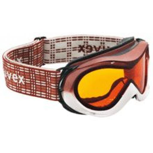 Uvex Hurricane CHOCO/WHITE Double lens Childs goggles