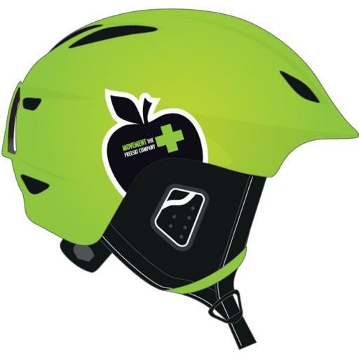 Movement ICON Ski Crash Helmet LIME GREEN Size Medium