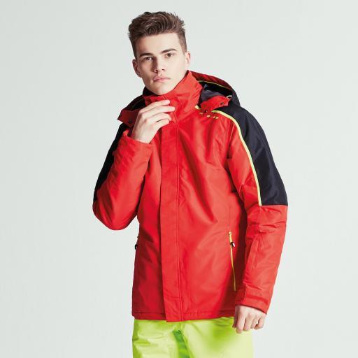 Mens DARE2B ALIGNED CODE RED Ski Board Jacket