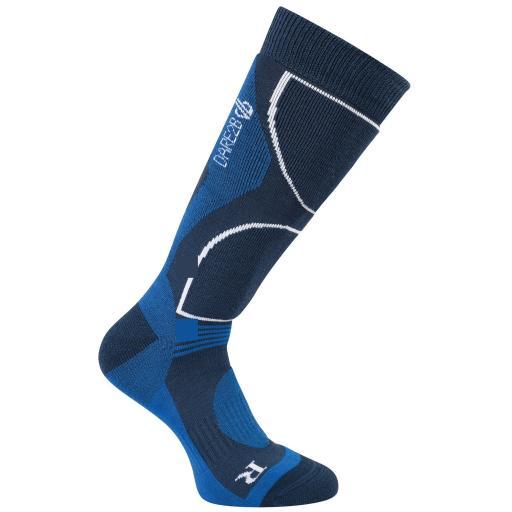 Dare2b Men's CONSTRUCT ADMIRAL BLUE Technical ski sock Sizes 6-8, 9-12