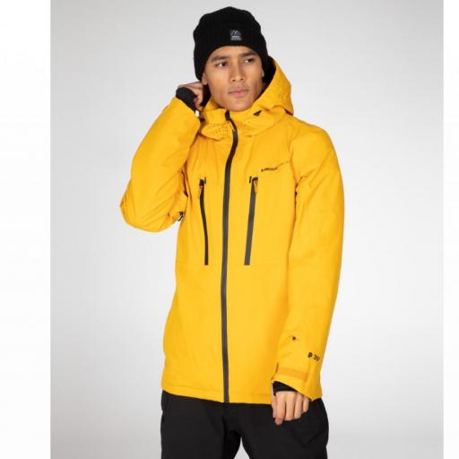 Protest TIMO Mens Ski Snowboard Jacket Dark Yellow