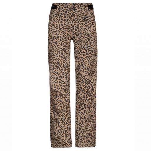 PROTEST ANGLE Tortilla Leopard Print Soft-Shell Ski Pants