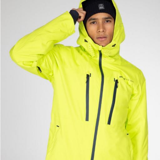 Protest TIMO Mens Ski Snowboard Jacket Lime Rocks (Citrus)