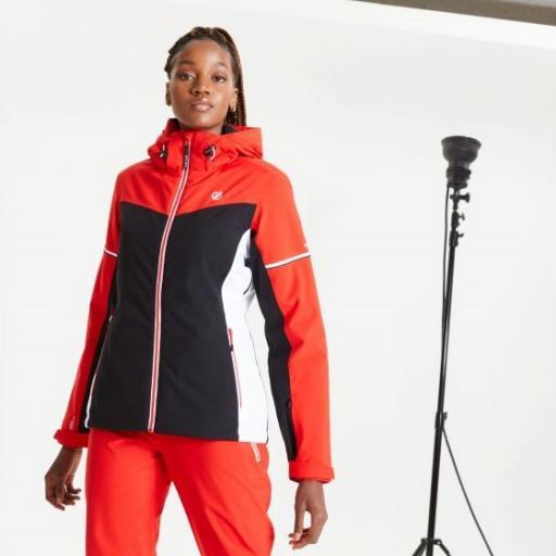 Dare2b ENCLAVE RED/ BLACK Womens Ski Jacket Plus size