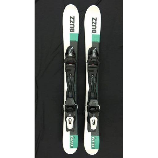Buzz ION K+ White Mint 99cms Snow Blade Ski with TYROLIA Bindings