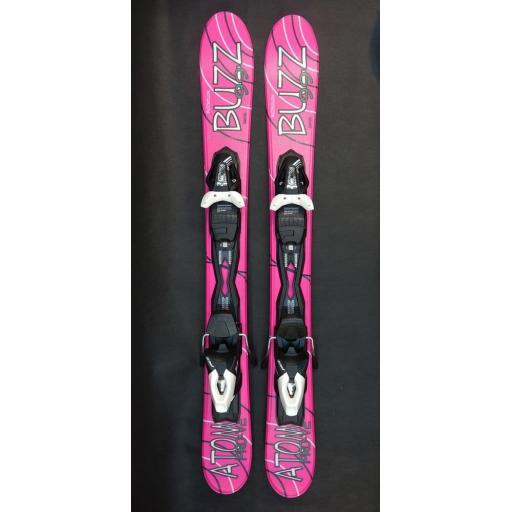 Buzz Atom Pro V2 PINK 99cms Snow Blade Ski with TYROLIA Bindings