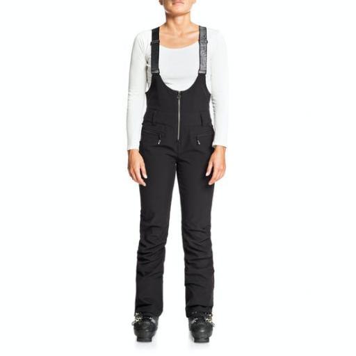 ROXY SUMMIT BIB WOMENS Slim Shell Snow Bib Pants Black