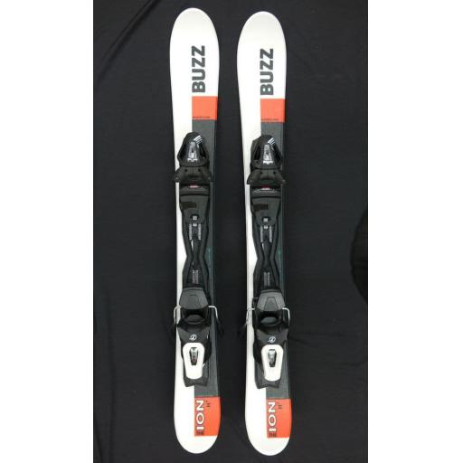 Buzz ION H+ White Orange 99cms Snow Blade Ski with TYROLIA Bindings
