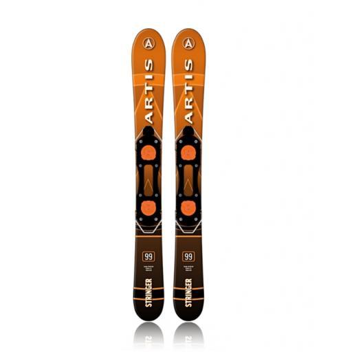 Artis Sporten Stringer 99cm Snow Blade style short ski with Non Release bindings